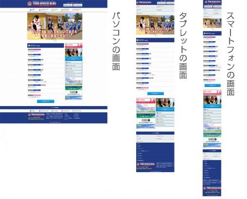 レスポンシブWebデザインの各デバイスの画面