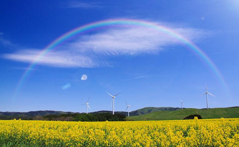Photoshop 簡単な虹の描き方 北の国ウェブ工房