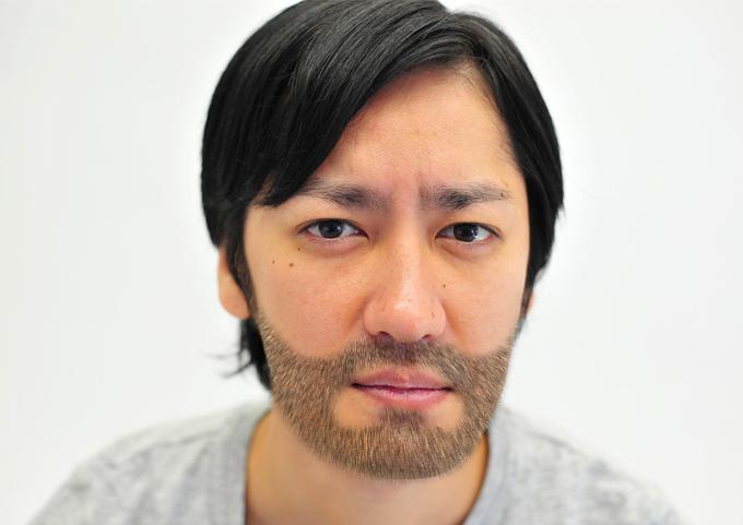 髭の生えた男性完成画像