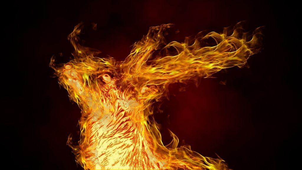 炎を複数配置した画像